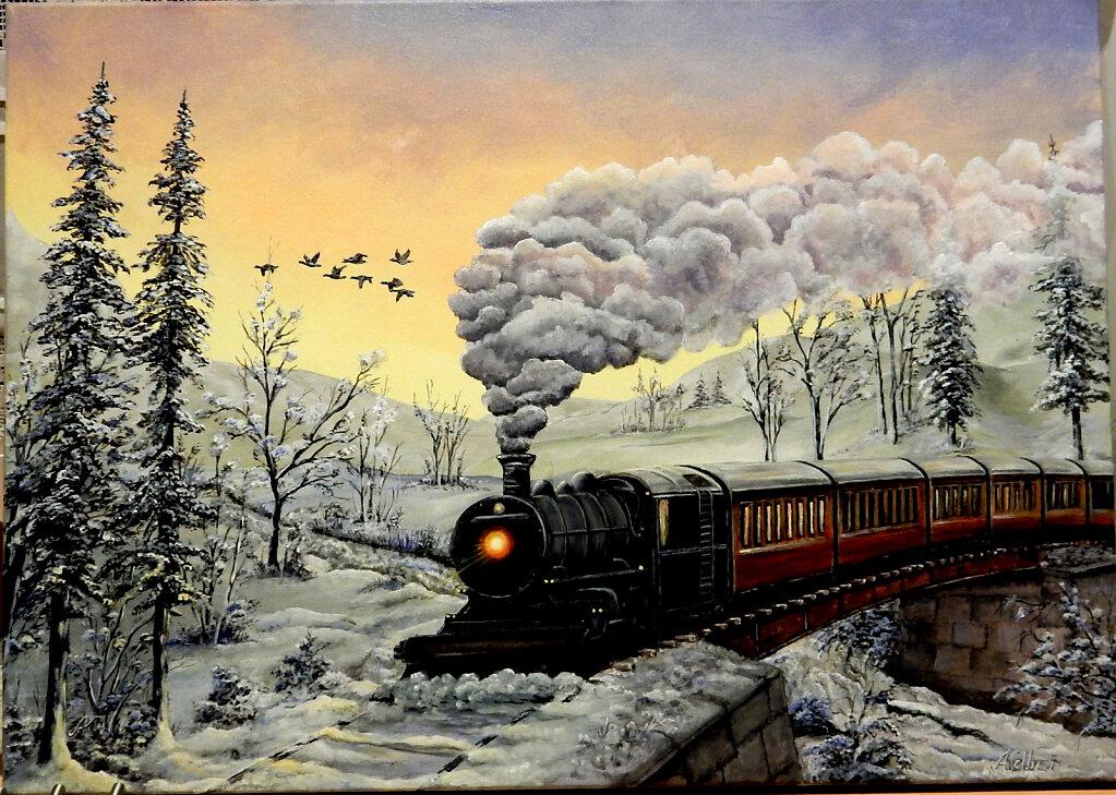 Die alte Dampfeisenbahn